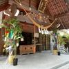 拝殿向拝に七夕の青竹を設置しました