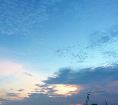 ★水色で夕焼けな空