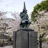 熊本市の加藤清正公の像 & 熊本城・桜の馬場