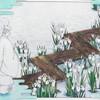 【雑談】抹茶風味の花模様。