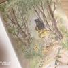 エポルの森の少女「春に書く手紙」の塗り絵は水彩絵の具もいいかも