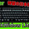 【これを待ってた!】Razerから待望の日本語配列テンキーレスゲーミングキーボードが発売!! [BlackWidow Lite JP]