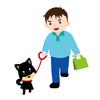 子犬のトイレトレーニング4 初めてのお散歩