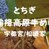 【宇都宮/松廼家】駅弁誕生130周年記念「とちぎ霧降高原牛めし」ブランド牛弁当だぞ