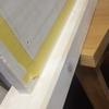 桐のドレッサー その17 - 鏡の台座の面取りと仕上げ