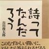 詩ってなんだろう 谷川俊太郎詩集