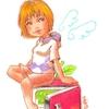 チョークアート 女の子のイラストと画材比較。