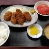 西川口の「あおき食堂」でピーマンの肉ずめとカレーコロッケとヒレカツ定食を食べました★