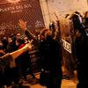 パブロ・ハーゼル支持の抗議