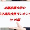 京都産業大学の公立高校合格ランキング in 大阪