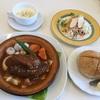 🚩外食日記(57)    宮崎ランチ       🆕「Bruno(ブルーノ)」より、【ブルーノ風ハンバーグ】【季節のスープ】‼️