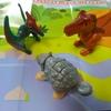 識別あり【ハッピーセット】ジュラシック・ワールド前半の恐竜3頭。ティラノ・アンキロ・プテラノドンをレビュー