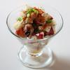 「タコと長芋のマリネ ボッタルガ(からすみ)添え」のご紹介