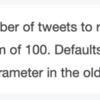 Twitter の Standard search API で、パラメータ「count」と取得件数が一致しない