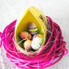 卵にデコパージュ(イースターエッグ)