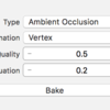 iOS で SceneKit を試す(Swift 3) その62 - Scene Editor で Ambient Occlusion のテクスチャを作成する