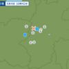 午後4時42分頃に長野県中部で地震が起きたとねち。