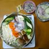 魚貝鍋(タラ、牡蠣)と久しぶりの酒。