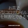 1143食目「お茶で新型コロナウイルスを無害化できる?!」奈良県立医科大学が発表