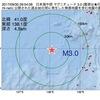 2017年09月30日 09時54分 日本海中部でM3.0の地震