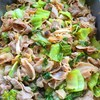 豚肉と高菜の新生姜炒め