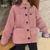 【韓国ファッション】ボアショートコート ボアジャケット もこもこ アウター ゆったり ブルゾン