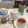 いつものカフェで一人ランチ&お散歩がてら紅茶とお花を買いに