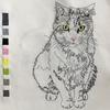 きーちゃん の刺繍  猫の保護活動団体きーちゃんち & コアラくじ!