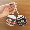 ソックヤーンでクリスマスボールを編みました