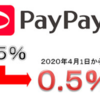 PayPayの還元率が4月から0.5%に改悪。
