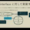 Interface に対してプログラミングする