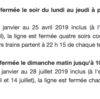 パリ メトロ4号線の夜間と日曜日朝の運休について