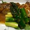 東京 新小岩 魚河岸料理「どんきい」鱈と牡蠣のアスパラバター
