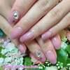 6月19日はロマンスの日♡ハートのクリスタルがかわいいグラデーションネイル☆ジェル