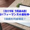 【株式】運用パフォーマンス&保有株一覧(2019.7.26時点) 1銘柄を利益確定