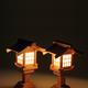夜長を楽しむ 暗闇を楽しむ 木製神前灯篭で神棚を祭る