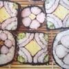 太巻きの飾り巻き寿司の写真