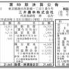 日東紅茶の三井農林株式会社 第69期決算公告