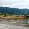 Walkingのコースに大型商業施設の建設工事が始まった