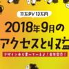 2018年9月のアクセスと収益【11万PV 13万円】書籍執筆依頼!記事広告など盛りだくさん!