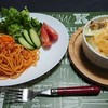 鶏と野菜のグラタン&ナポリタン✨