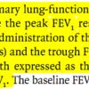 喘息に対するLAMAの効果 RCT