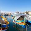 カラフルな舟が浮かぶマルサシュロックを観光~冬のマルタ旅行