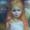 ルノアール 「草束を持つ少女」CG画像