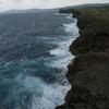 【旅行日記_沖縄】2017年1月その9_万座毛で風に煽られる。すっごい迫力