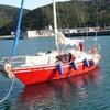 マリーナ滞在予定を急遽変更、阿尾漁港に向け出港