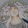 クーピーでミュシャ塗り絵『サラ・ベルナール』