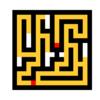 粘菌に迷路を解かせるシミュレーション