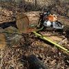 新月伐採とホダ木と一輪車の小改造