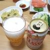 サーモン、アスパラ天ぷら、クラシック春の薫り